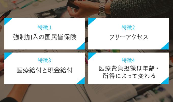 日本の公的医療保険制度(国民皆保険制度)の特徴